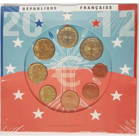 France 2012 Série euro en coffret brillant universel