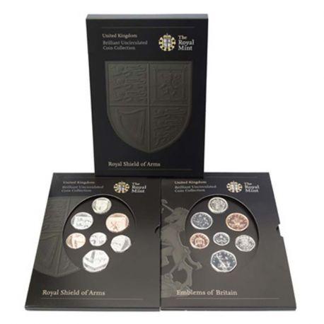 Royaume Uni 2008 Coffret Brillant Universel de 14 monnaies