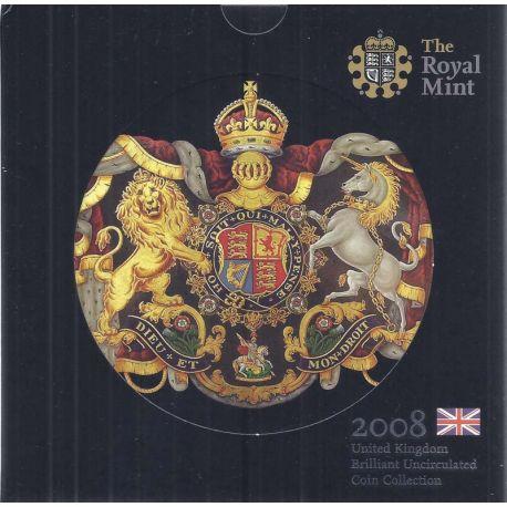 Royaume Uni 2008 Coffret Brillant Universel de 8 monnaies