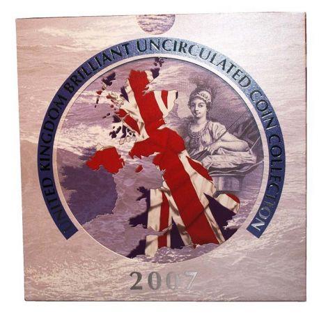 Royaume Uni 2007 Coffret Brillant Universel de 9 monnaies