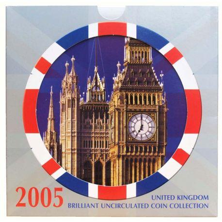 Royaume Uni 2005 Coffret Brillant Universel de 10 monnaies