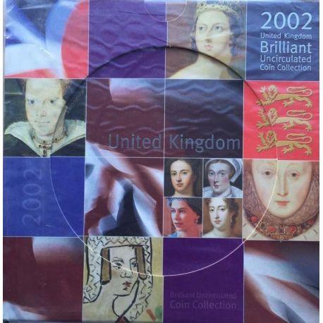 Royaume Uni 2002 Coffret Brillant Universel de 10 monnaies