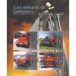 Bloc de 4 timbres Thème Les Pompiers du Niger
