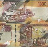 Billet de banque collection Kenya - PK N° 999 - 1 000 Shilling