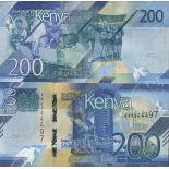 Billet de banque collection Kenya - PK N° 999 - 200 Shilling
