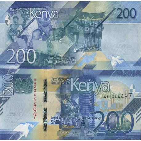 Billet de banque collection Kenya - PK N° 999 - 200 Shilling