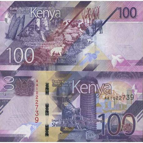 Billet de banque collection Kenya - PK N° 999 - 100 Shilling
