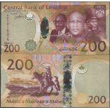 Billet de banque collection Lesotho - PK N° 25 - 200 Maloti