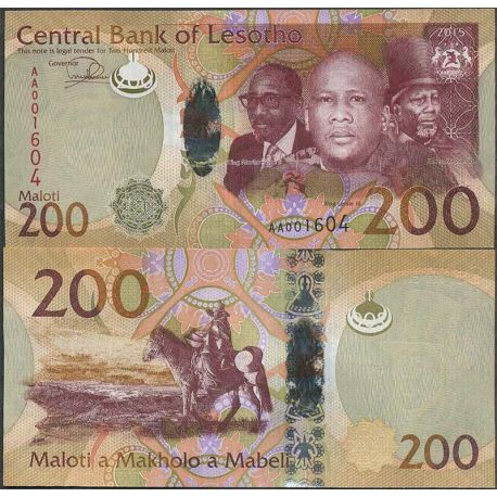 Billet de banque collection Lesotho - PK N° 25 - 200 Maloti