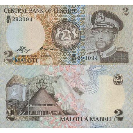 Billet de banque collection Lesotho - PK N° 4 - 2 Maloti