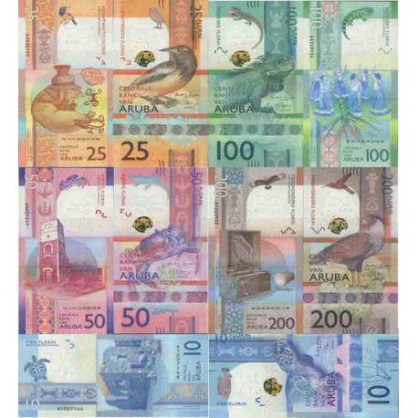 Billet de banque collection Aruba - PK N° 999 Série 5 Valeurs - Florin