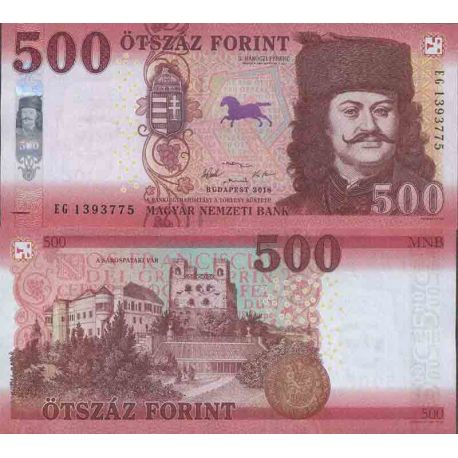 Billet de banque collection Hongrie - PK N° 999 - 500 Forint