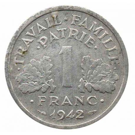 Pièce 1 franc Francique Lourde 1942