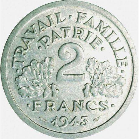 Pièce 2 francs Francique 1943/1944