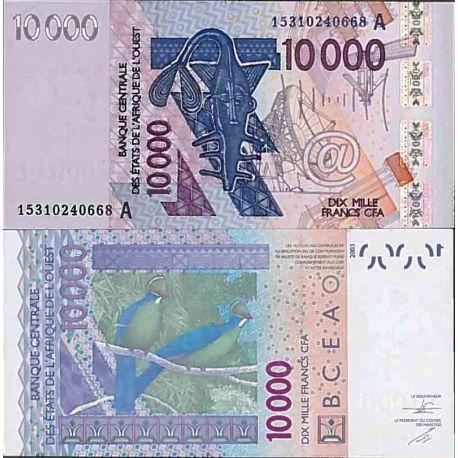 Billet de banque collection Afrique De L'ouest - PK N° 118a - 10 000 Francs