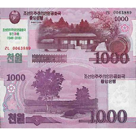 Billet de banque collection Corée Nord - PK N° 21CS - 1000 Won