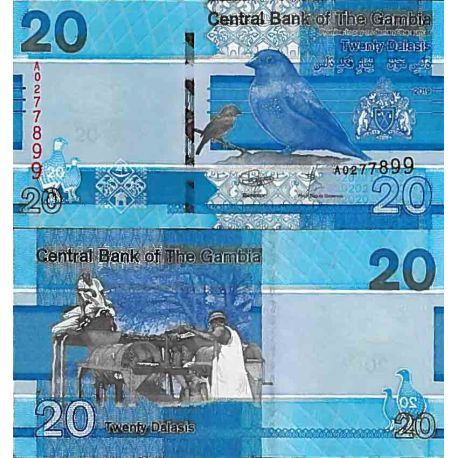 Billet de banque collection Gambie - PK N° 999 - 20 Dalasis