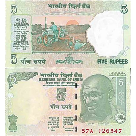 Billet de banque collection Inde - PK N° 94 - 5 Ruppe