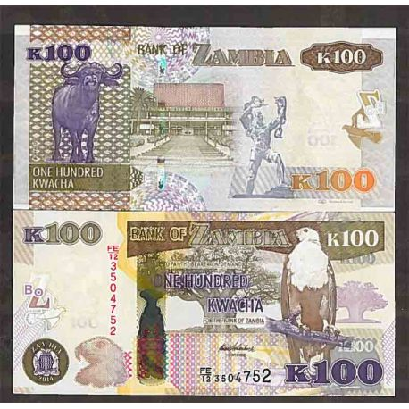 Billet de banque collection Zambie - PK N° 54 - 100 Kwacha