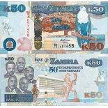Billet de banque collection Zambie - PK N° 55 - 50 Kwacha