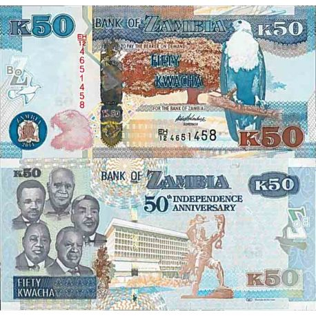 Billet de banque collection Zambie - PK N° 55 - 50 Kwacha
