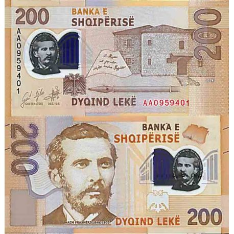 Billet de banque collection Albanie - PK N° 999 - 200 Leke