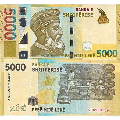 Billet de banque collection Albanie - PK N° 999 - 5000 Leke