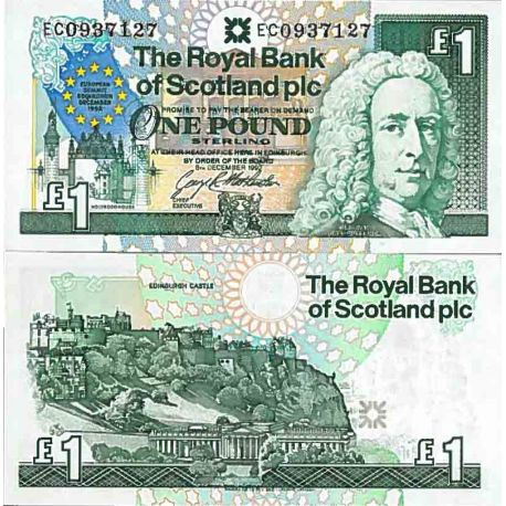 Billets de collection Billet de banque collection Ecosse - PK N° 356 - 1 livre Billets d'Ecosse 20,00 €