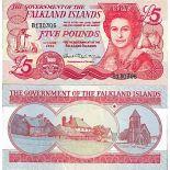 Billet de banque collection Falkland Iles - PK N° 17 - 5 Livre