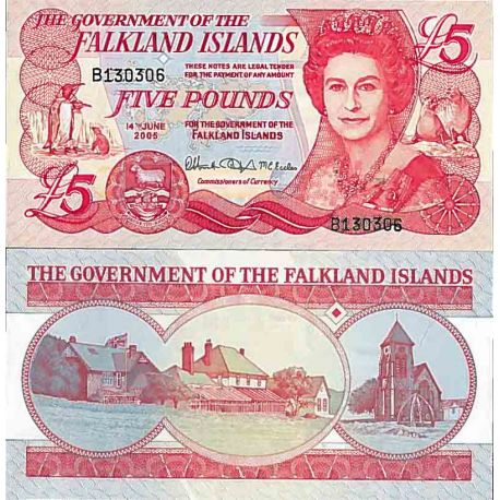 Billet de banque collection Falkland Iles - PK N° 17 - 5 Livre