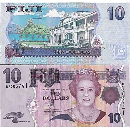Billet de banque collection Fidji - PK N° 111 - 10 Dollars
