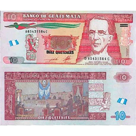 Billet de banque collection Guatemala - PK N° 123 - 10 Quetzal