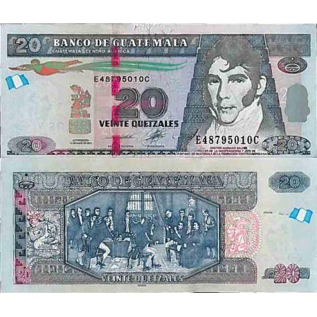 Billets de collection Billet de banque collection Guatemala - PK N° 124 - 20 Quetzal Billets du Guatemala 11,00 €