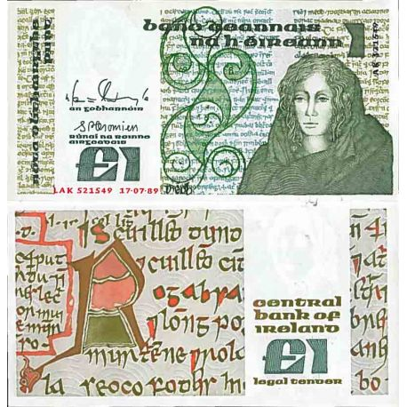 Billet de banque collection Irlande - PK N° 70 - 1 Pound