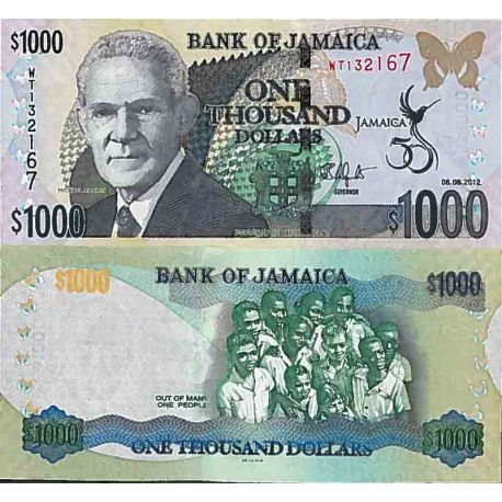 Billets de collection Billet de banque collection Jamaïque - PK N° 92 - 1 000 Dollars Billets de Jamaique 29,00 €