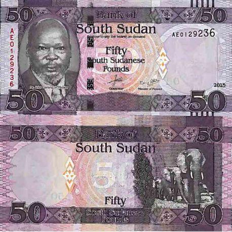 Billets de collection Billet de banque collection Soudan du Sud - PK N° 14 - 50 Pounds Billets du Sud-Soudan 10,00 €