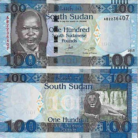 Billets de collection Billet de banque collection Soudan du Sud - PK N° 15 - 100 Pounds Billets du Sud-Soudan 10,00 €
