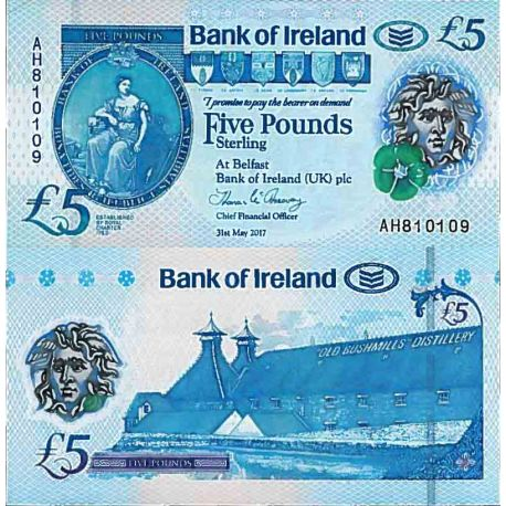 Billet de banque collection Irlande Nord - PK N° 999 - 5 Pound