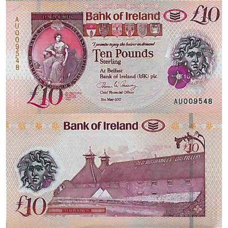 Billet de banque collection Irlande Nord - PK N° 999 - 10 Pound