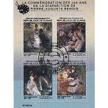 Bloc de 4 timbres Renoir
