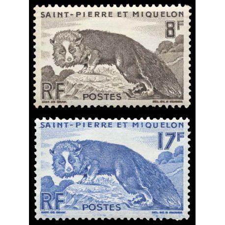 Timbre collection St Pierre & Miquelon N° Yvert et Tellier 345/346 Neuf sans charnière
