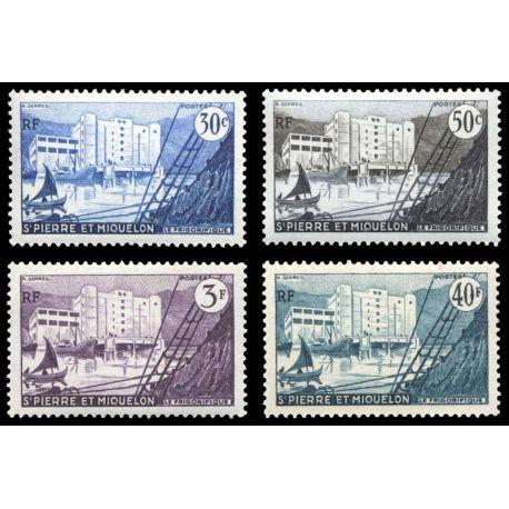 Timbre collection St Pierre & Miquelon N° Yvert et Tellier 348/351 Neuf sans charnière