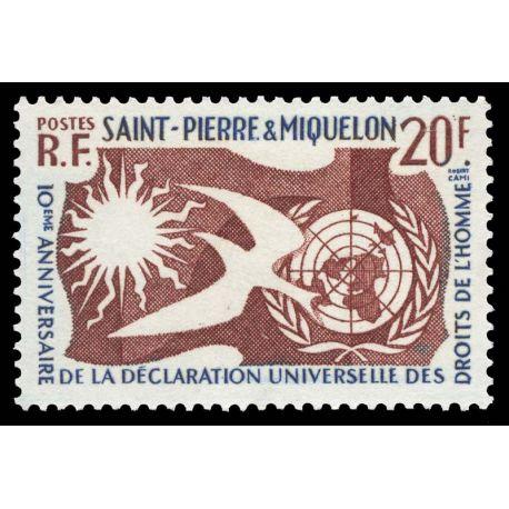 Timbre collection St Pierre & Miquelon N° Yvert et Tellier 358 Neuf sans charnière