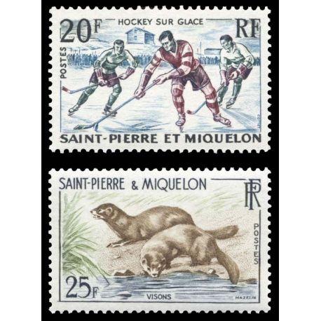 Timbre collection St Pierre & Miquelon N° Yvert et Tellier 360/361 Neuf sans charnière