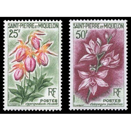 Timbre collection St Pierre & Miquelon N° Yvert et Tellier 362/363 Neuf sans charnière