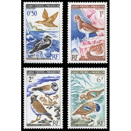 Timbre collection St Pierre & Miquelon N° Yvert et Tellier 364/367 Neuf sans charnière