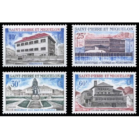 Timbre collection St Pierre & Miquelon N° Yvert et Tellier 387/390 Neuf sans charnière
