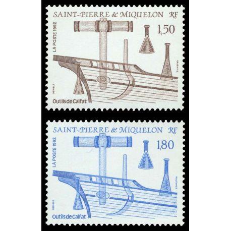 Timbre collection St Pierre & Miquelon N° Yvert et Tellier 561/562 Neuf sans charnière