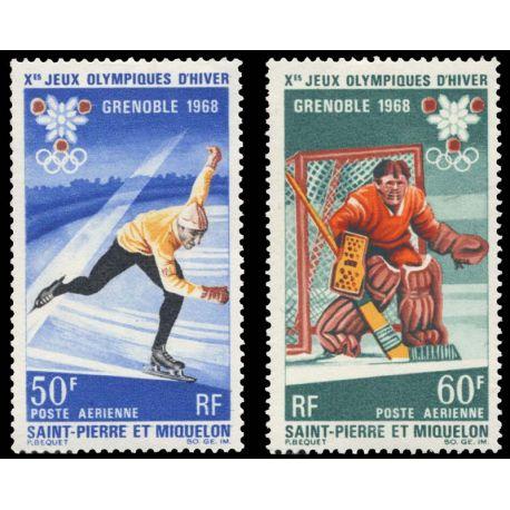 Timbre collection St Pierre & Miquelon N° Yvert et Tellier PA 40/41 Neuf sans charnière