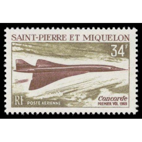 Timbre collection St Pierre & Miquelon N° Yvert et Tellier PA 43 Neuf sans charnière
